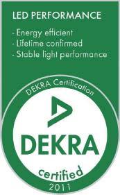 Сертификационная марка Dekra на изделия СИД