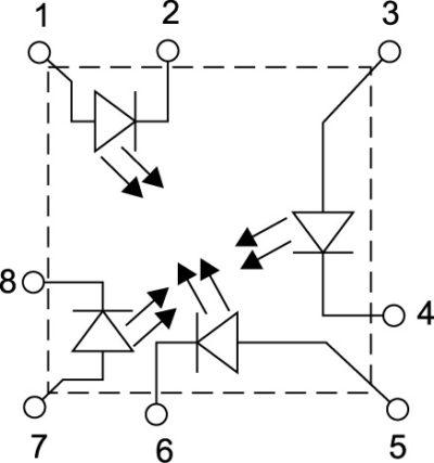 Схема внутренних соединений модулей LZ4