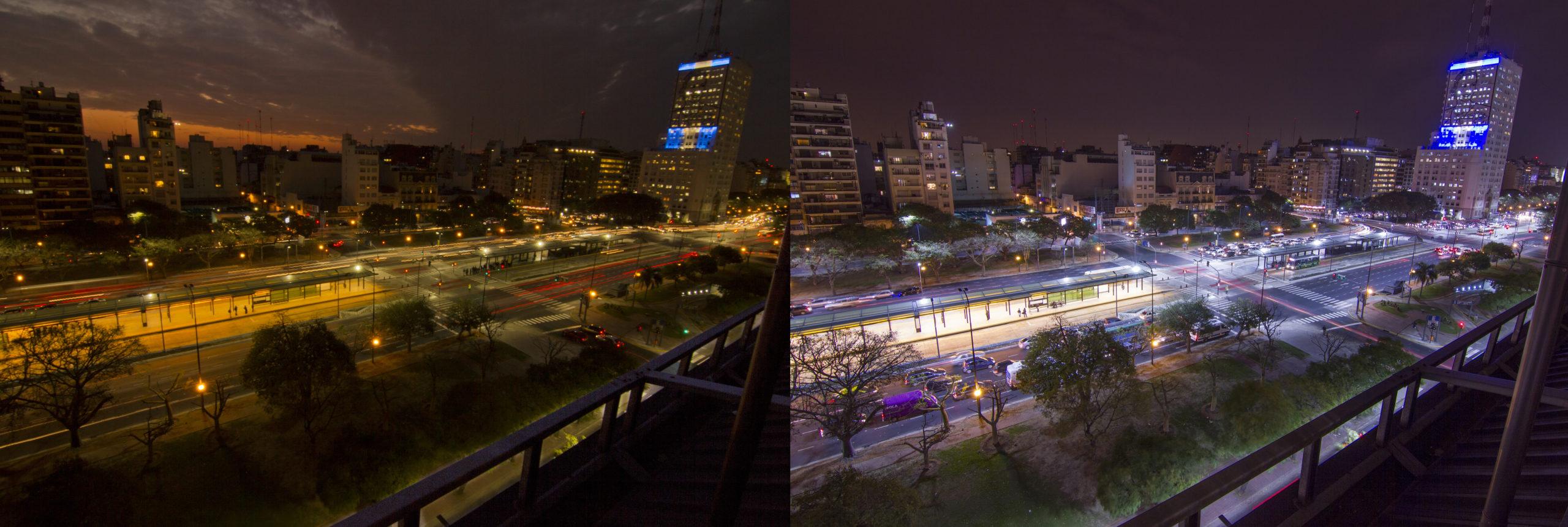 Освещение Буэнос-Айреса