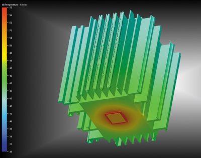 Тепловое моделирование промышленного светильника