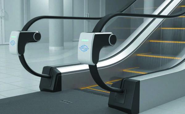 Пример установки УФ-дезинфекторов «НПК Позитрон» на эскалаторе