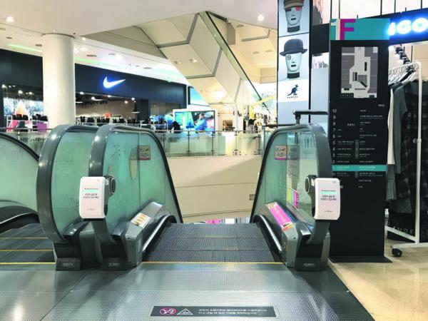Пример установки УФ-дезинфекторов в торговом центре в Южной Корее