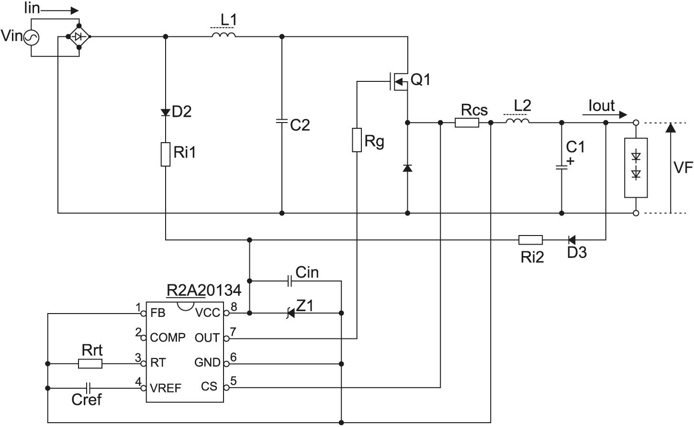 Схема электрическая принципиальная R2A20134EVB-NN1P