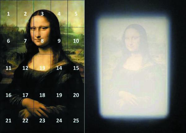 По результатам светотехнических измерений на картине однородность освещения одной только лампой составляет 0,85, а с учетом окружающего освещения — 0,92