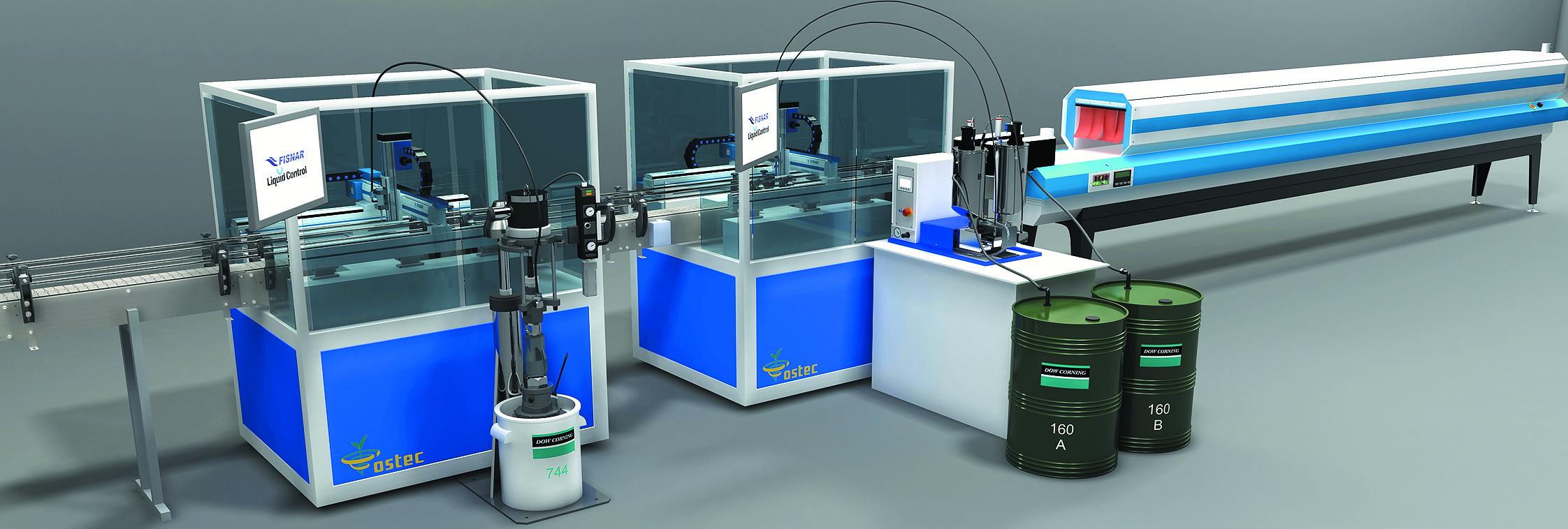 Роботизированная конвейерная линия заливки и герметизации LED-светильников