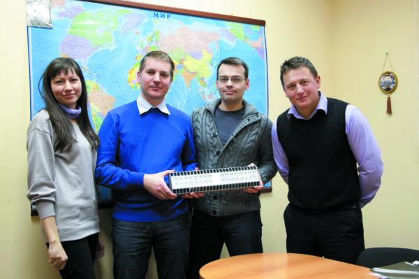 Команда разработчиков компании «Световые Технологии» и представитель ГК Остек
