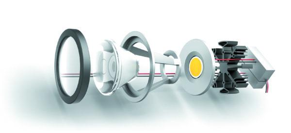 Электронная линза компании LensVector в составе светильника