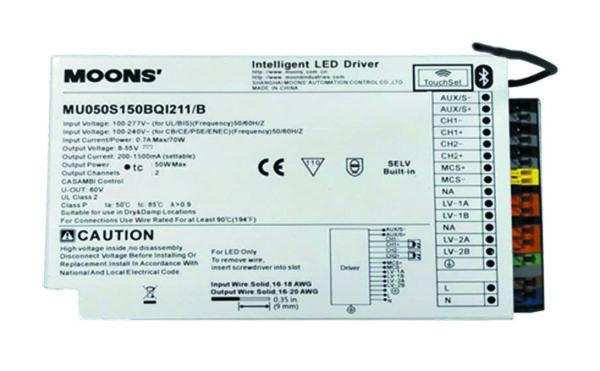 Блок питания MOONS' MU050S150BQI211/B для управления электронной линзой
