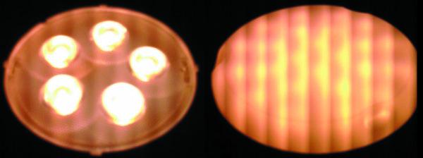 Световая пульсация в виде полос на экране дисплея