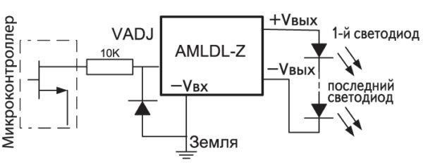 Управление яркостью светодиодов ШИМ-сигналом микроконтроллера