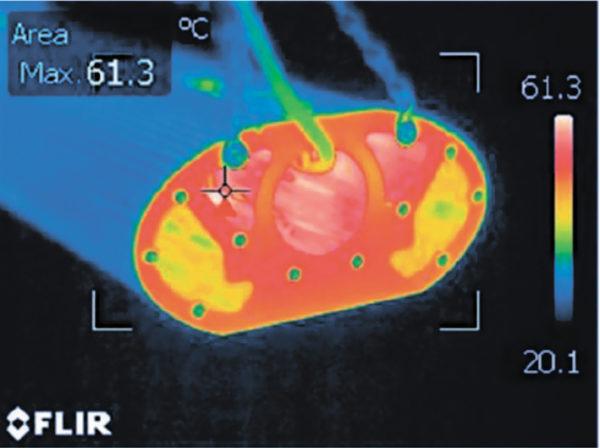 Тепловизионное обследование светильника Econex Road в американской лаборатории компании Cree