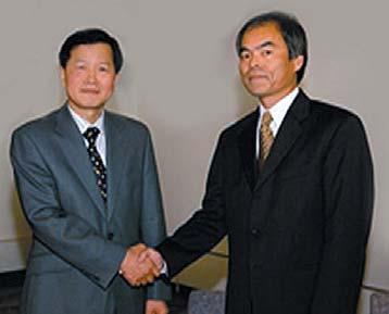 Чун Хун Ли и профессор Сюдзи Накамура