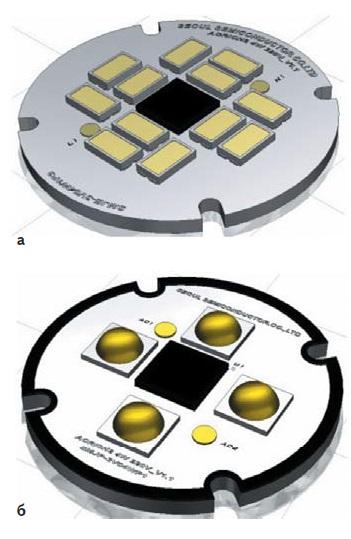 Модуль 4Вт: а) длязамены ламп накаливания; б) длязамены ламп MR16