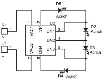 Структура модуля Acrich2 4Вт