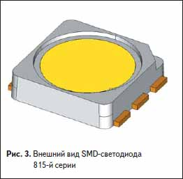 Внешний вид SMD светодиода 815-й серии