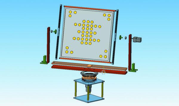3D-модель гониометрического комплекса на основе шаговых двигателей для светильников размером 700×700 мм