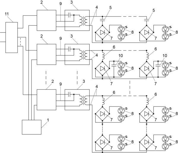 Резонансная регулируемая система освещения