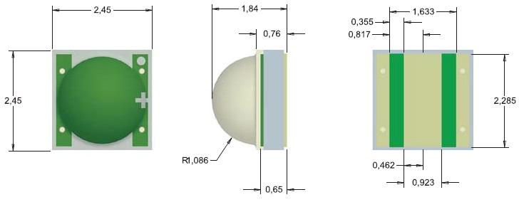 Размеры светодиода XB-D