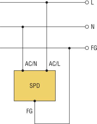 Схема подключения SPD