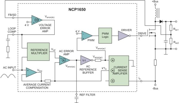 NCP1650 в качестве ККМ контроллера