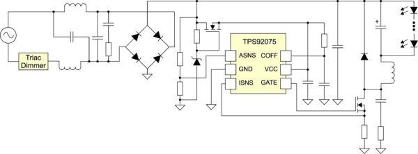 Типовая реализация драйвера с питанием от сети переменного тока. AC-фильтр
