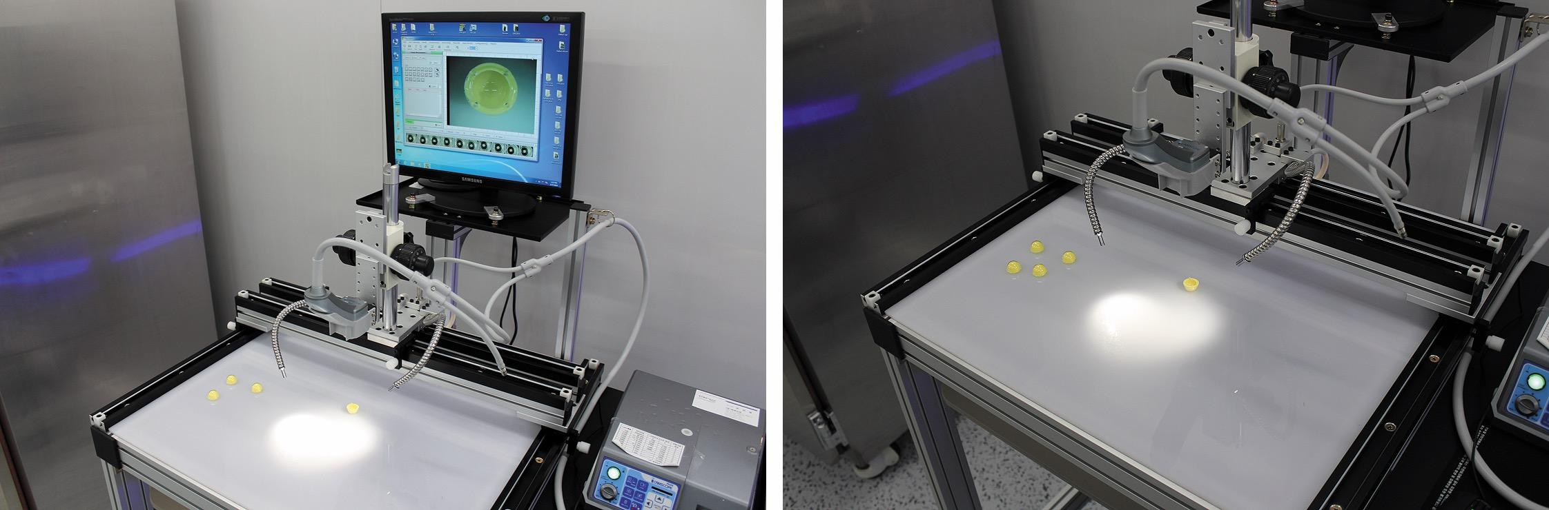 Исследование внешнего вида колпачков с помощью видеомикроскопа Sometech