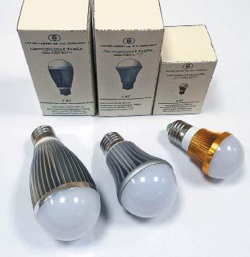 Внешний вид ламп с цоколем Е27