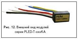 Рис. 12. Внешний вид модулей серии PLED-T-xxxKA