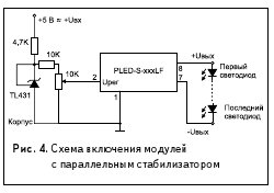Рис. 4. Схема включения модулей