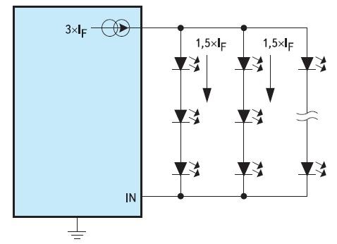 Схема с последовательно-параллельным включением плохо работает при отказе светодиодов