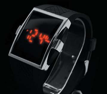 Наручные электронные часы с индикаторными светодиодами