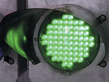 Применение зеленых светодиодов на основе InGaN/GaN-гетероструктур в светофорах