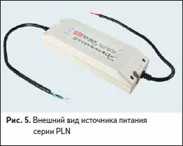 Внешний вид источника питания серии PLN