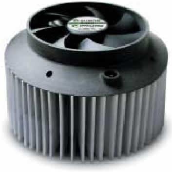 Решение для охлаждения светодиодных модулей Fortimo (комбинация радиатора и вентилятора осевого типа)