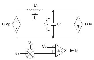 Усредненная модель квадратичного понижающего преобразователя без демпфирования входного каскада