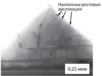 Выполненная методом ТEМ микрофотография поперечного сечения ОЗ