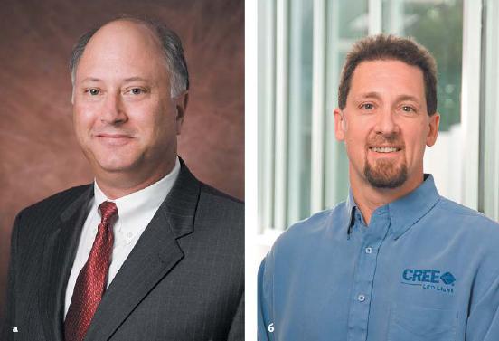 Двое изшести основателей Cree, которые досих пор работают вфирме: Джон Палмор (John Palmour) и Джон Эдмонд (John Edmond)
