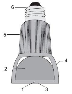 СД-лампа с двусторонним выводом преобразованного излучения удаленным люминофором