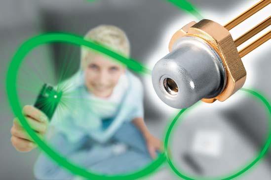 Непосредственно излучающий зеленый свет лазерный диод PL 520 отOSRAM OS