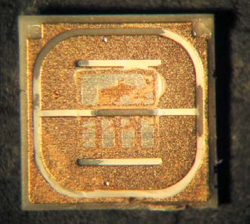 Топология контактных площадок подложки светодиода LH351B