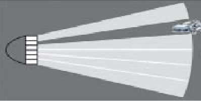 Принцип формирования темного пятна в световом потоке фары
