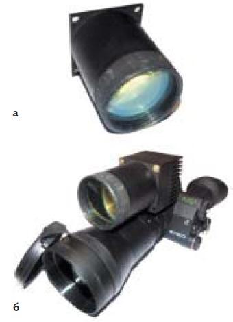 Импульсный лазерный осветитель (а), входящий в состав АИ ПНВ «Импульс» (б)