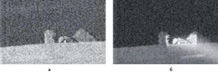 Изображение, наблюдаемое в ПНВ при его работе в режимах