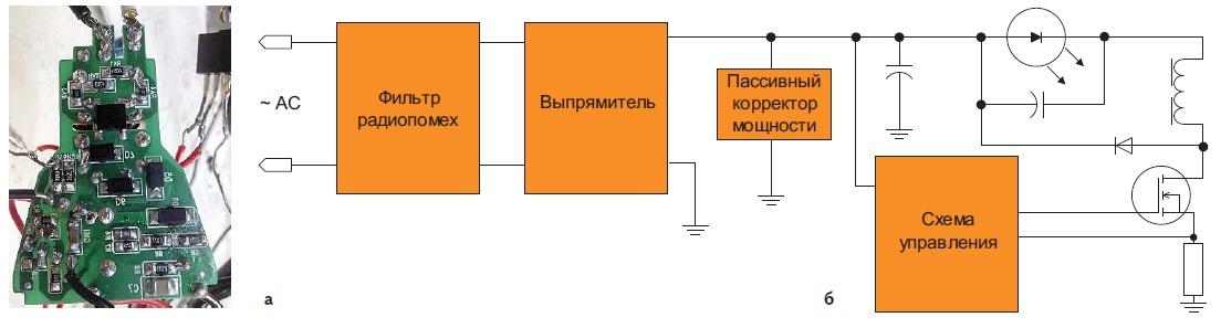 Неизолированный LED-драйвер на базе микросхемы MCA1602