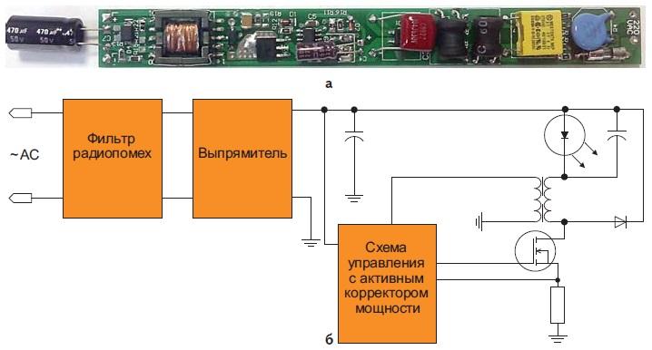 Неизолированный LED-драйвер на базе микросхемы MCA1503