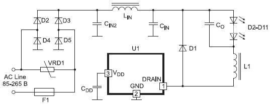 Схема включения микросхем с входным фильтром