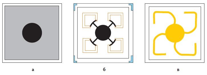 Графическое изображение излучающих кристаллов