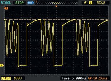 Напряжение настоке транзистора в пике питающего напряжения
