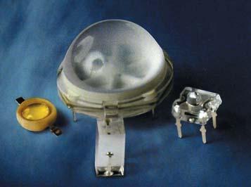 Различные типы линз для формирования излучения ИК-осветителя