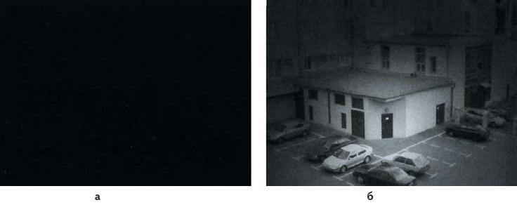 Изображение, наблюдаемое при пониженных уровнях освещенности